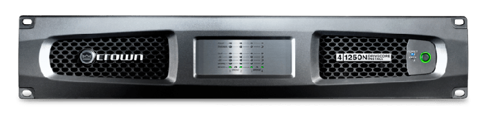 Crown Audio DCi 4|1250N Four-channel 1250W @ 4Ω Power Amplifier with BLU Link 70V/100V