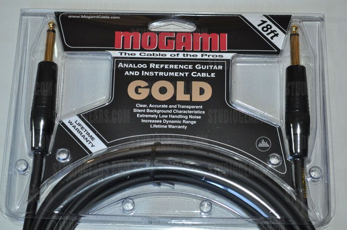 Mogami Gold Instrument Cable 18 ft.