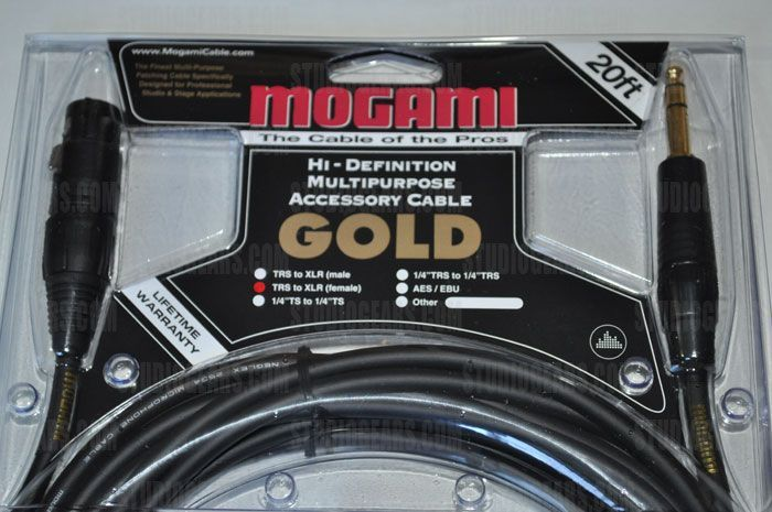 Mogami Gold TRS-XLRF Cable 20 ft.
