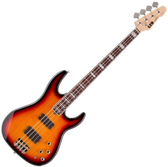 ESP LTD Surveyor 4 Electric Bass in 3-Tone Burst