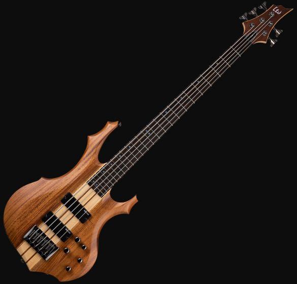 ESP LTD F-5E Bass Guitar in Natural Stain Finish