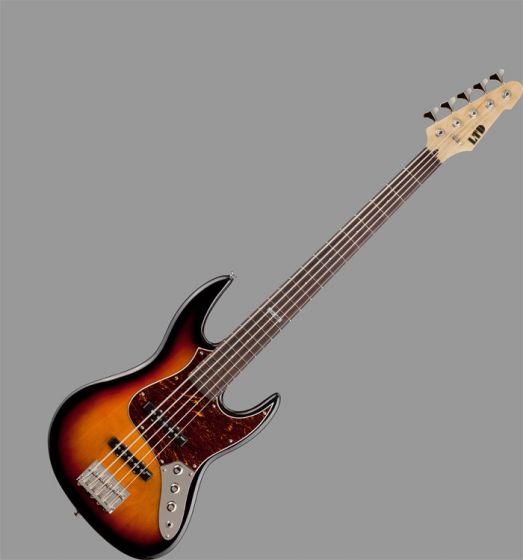 ESP LTD J-205 Bass Guitar in 3 Toneburst Finish