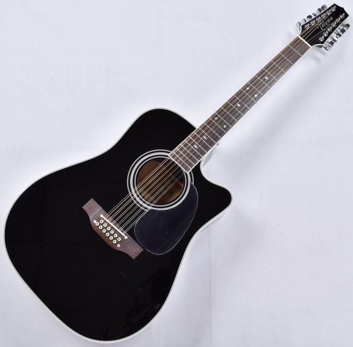 takamine ef381sc 12 string acoustic guitar in gloss black b stock ta. Black Bedroom Furniture Sets. Home Design Ideas