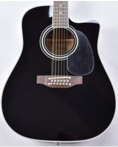 Takamine EF381SC 12 String Acoustic Guitar in Gloss Black B-Stock