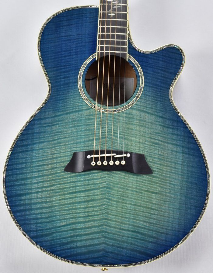 Takamine Ltd 2016 Decoy Acoustic Guitar In Green Blue Burst Finish L