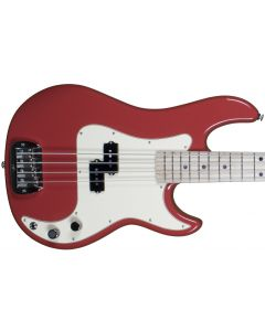 G&L LB-100 usa custom empress body electric bass in fullerton red
