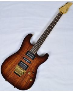 Schecter CET Koa Top USA Custom Shop Electric Guitar Tobacco Burst  SCHECTERUCETKTB