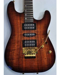 Schecter CET Koa Top USA Custom Shop Electric Guitar Tobacco Burst