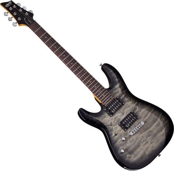 Schecter C-6 Plus Left-Handed Electric Guitar Charcoal Burst
