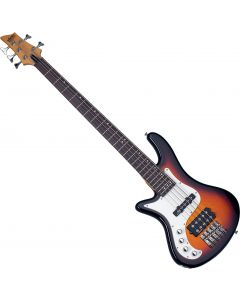 Schecter Stiletto Vintage-5 Left-Handed Electric Bass 3-Tone Sunburst  SCHECTER2529