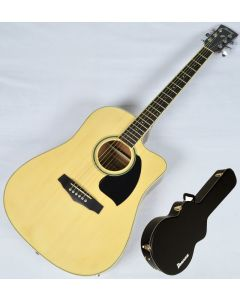 Ibanez PF15ECEWC-NT PF Series Acoustic Guitar in Natural High Gloss Finish SA141202029 PF15ECEWCNT.B 2029