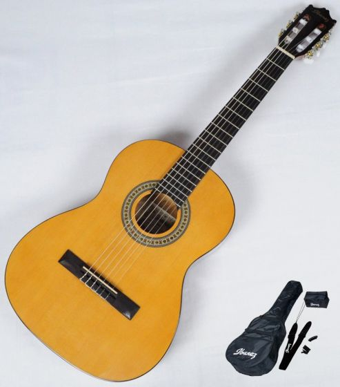 Ibanez IJC30 JAMPACK Nylon Acoustic Guitar Package in Amber High Gloss Finish B-Stock GS141003415