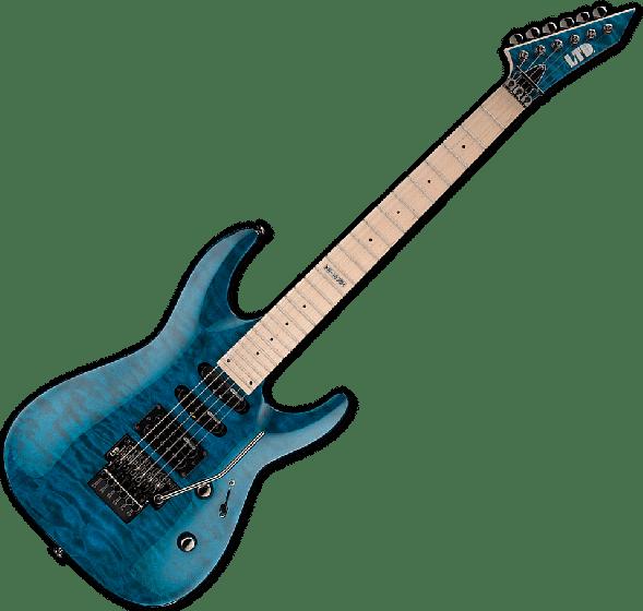 ESP LTD MH-103QM Guitar in See-Through Blue