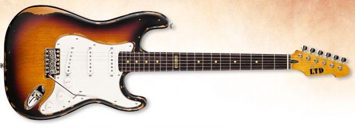 ESP LTD ST-203 Guitar in 3 Tone Burst