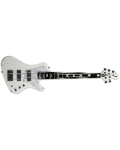 ESP E-II Stream SL-5 Electric Bass Guitar in Snow White EIISTREAMSL5SW