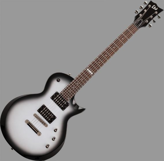 ESP LTD EC-50 Left Handed Guitar in Silver Sunburst Finish