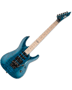 ESP LTD MH-103QM Electric Guitar in See-Through Blue B-Stock LMH103QMSTB.B