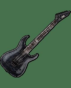 ESP LTD MH-401FR QM Electric Guitar in See-Thru Black LMH401FRQMSTBLK