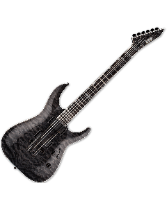ESP LTD MH-401NT QM Electric Guitar in See Thru Black LMH401NTQMSTBLK