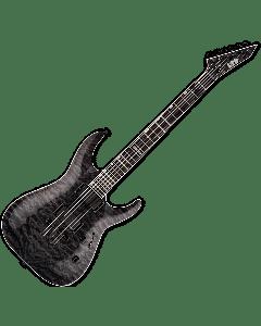 ESP LTD MH-401NT QM Electric Guitar in See Thru Black B-Stock LMH401NTQMSTBLK.B