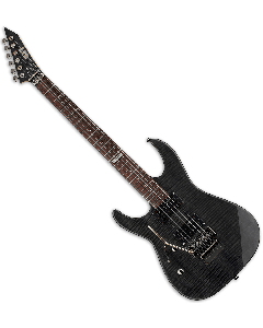 ESP LTD M-100FM Left Handed Electric Guitar in See-Through Black LM100FMSTBLKLH