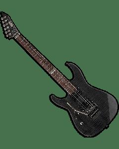 ESP LTD M-100FM Left Handed Electric Guitar in See-Through Black LM100FMSTBLKLH