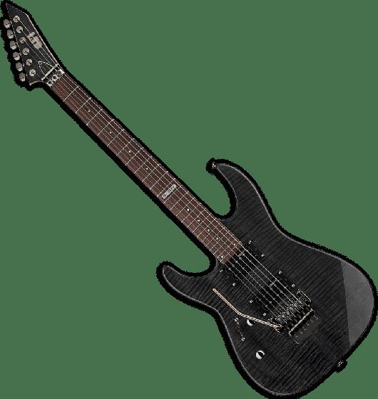 ESP LTD M-100FM Left Handed Electric Guitar in See-Through Black B-Stock
