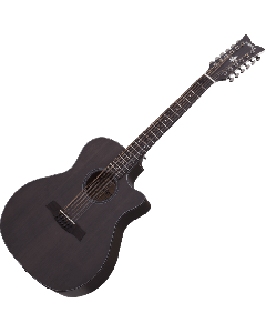 Schecter Orleans Studio-12 Acoustic Guitar in Satin See Thru Black Finish SCHECTER3714