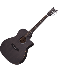 Schecter Deluxe Acoustic Guitar in Satin See Thru Black Finish SCHECTER3716