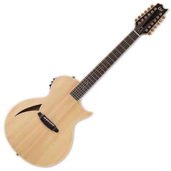 ESP LTD TL-12 12-String Acoustic Electric Guitar in Natural Finish