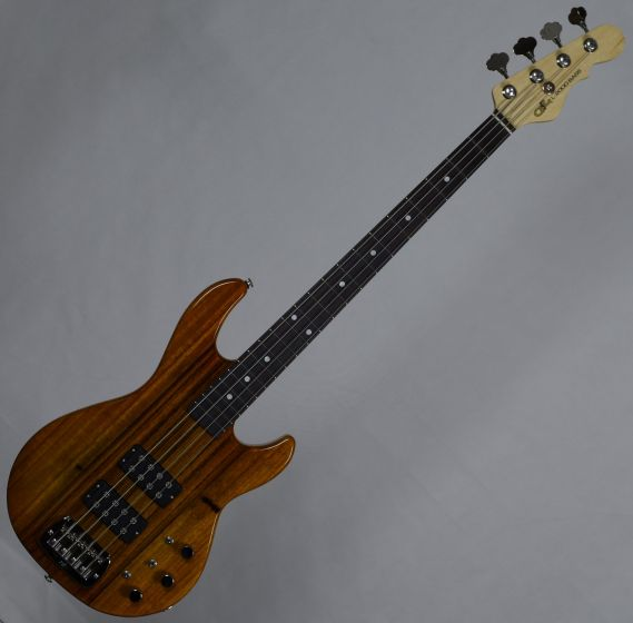 G&L USA L-2000 Mango Top Electric Bass in Honeyburst Wide Front