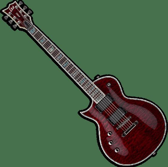 ESP LTD EC-1000 STBC Lefty Guitar in See Thru Black Cherry