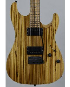 Schecter Masterworks Sunset Custom-II Zebrawood Electric Guitar Gloss Natural