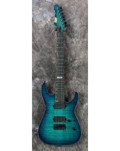ESP USA M-7 Flamed Maple Electric Guitar in Aqua Marine Sunburst EUSM7HTFMAQMSBE