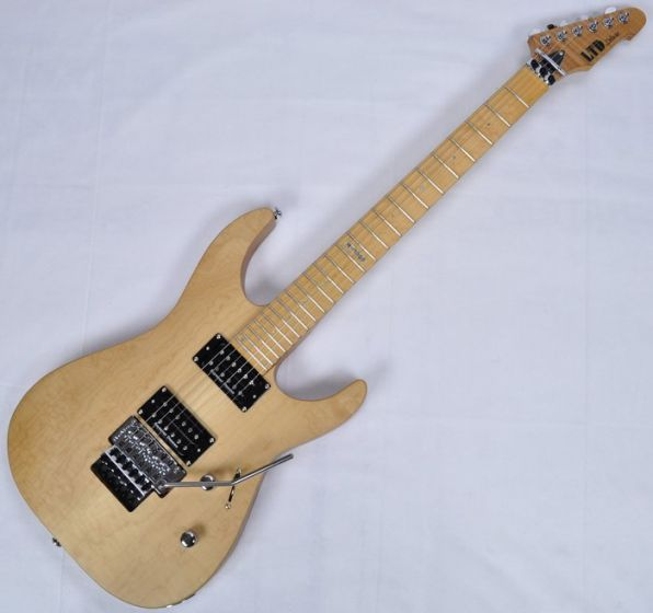 ESP LTD Deluxe M-1000SE Electric Guitar in Vintage Natural Satin