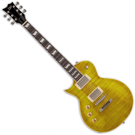 ESP LTD EC-256FM Flame Maple Top Left-Handed Electric Guitar Lemon Drop