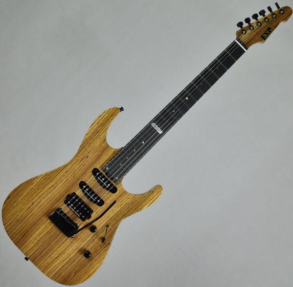 ESP USA M-III 2PT Zebrawood Top Okoume Body Electric Guitar Natural Gloss