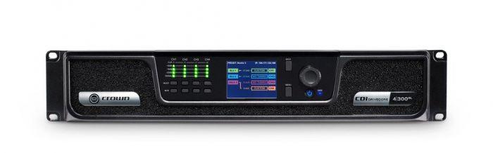 Crown Audio CDi 4|300BL Analog + Blue Link Drivecore Series Amplifier