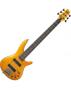 Ibanez Gerald Veasley Signature GVB1006 6 String Electric Bass Amber GVB1006AM