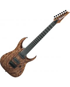 Ibanez RGA Iron Label RGAIX7U 7 String Electric Guitar Antique Brown Stained RGAIX7UABS