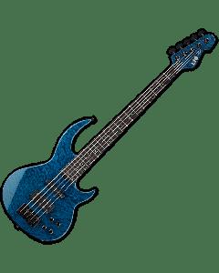 ESP LTD BB-1005 QM Bunny Brunel Electric Bass in Black Aqua LBB1005QMBLKAQ