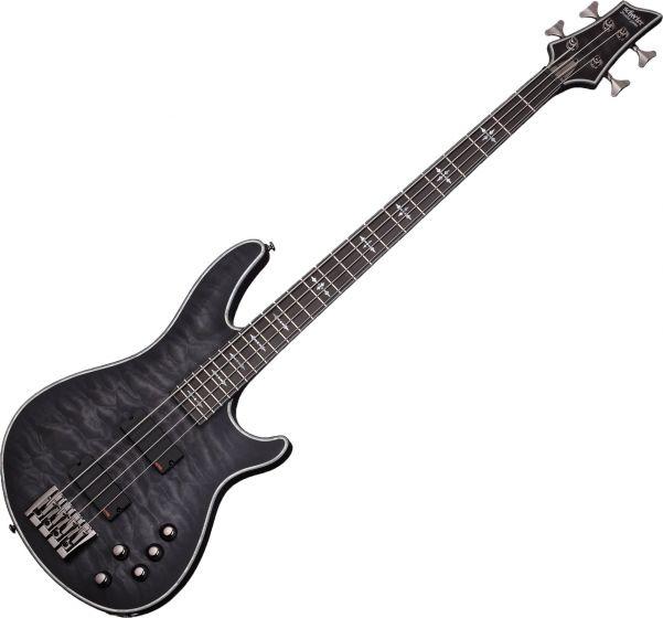 Schecter Hellraiser Extreme-4 Electric Bass in See Thru Black Satin