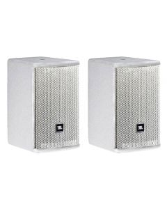 JBL AC15 Ultra Compact 2-Way Loudspeaker with 1 x 5.25 LF White PAIR AC15-WH-PAIR