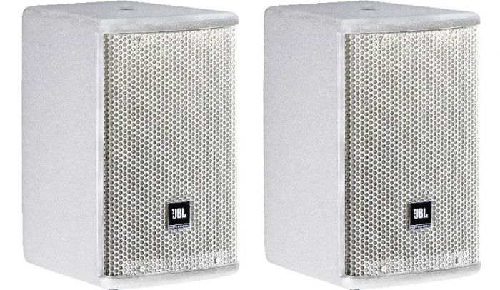 "JBL AC15 Ultra Compact 2-Way Loudspeaker with 1 x 5.25"" LF White PAIR"