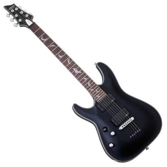 Schecter Damien Platinum 6 Left Handed Electric Guitar in Satin Black