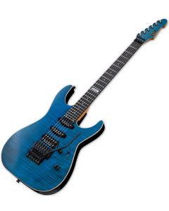 ESP USA M-III Electric Guitar in See Thru Blue EUSMIIISTB