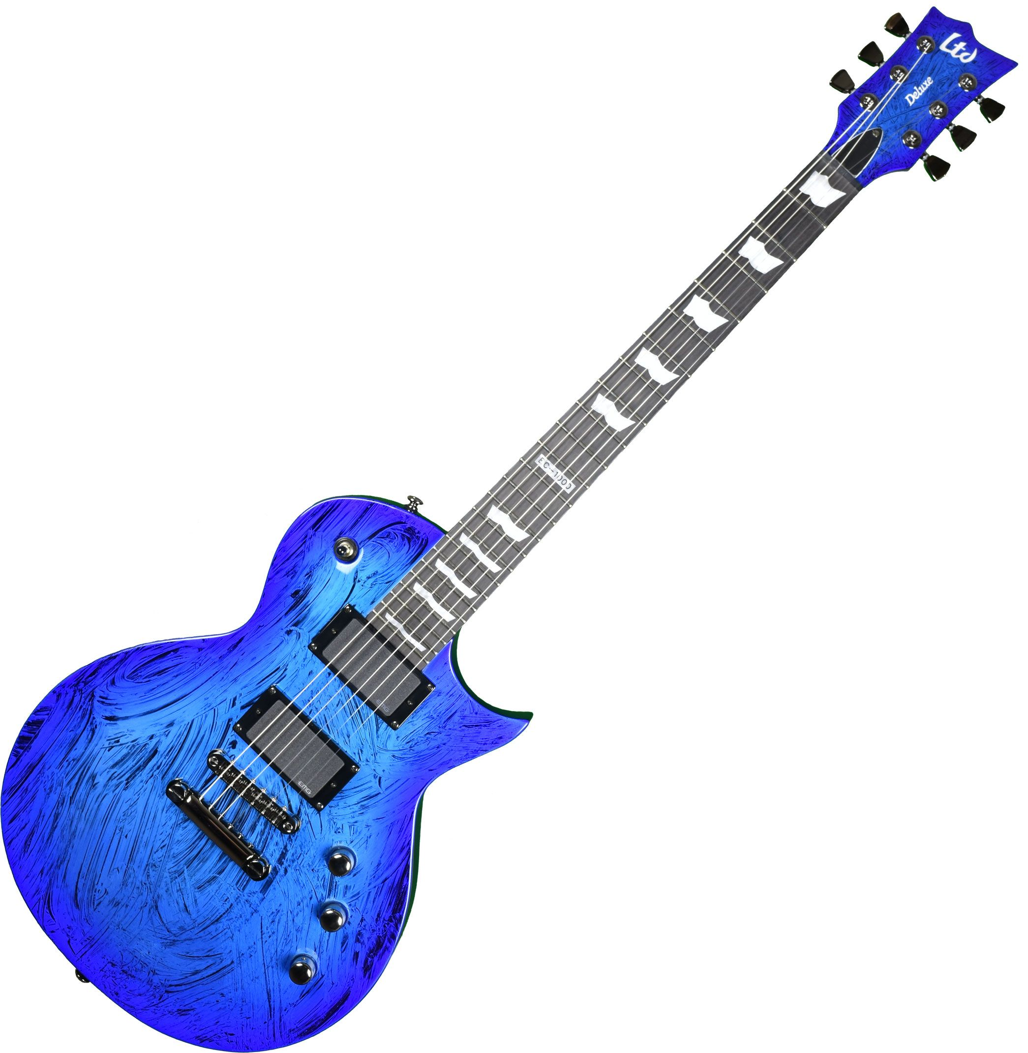 esp ltd deluxe ec 1000 prototype electric guitar swirl blue finish l. Black Bedroom Furniture Sets. Home Design Ideas