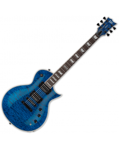 ESP LTD EC-1000 Piezo Quilted Maple Electric Guitar See Thru Blue B-Stock LEC1000PIEZOQMSTB.B