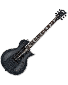 ESP LTD EC-1000 Piezo Quilted Maple Electric Guitar See Thru Black B-Stock LEC1000PIEZOQMSTBLK.B