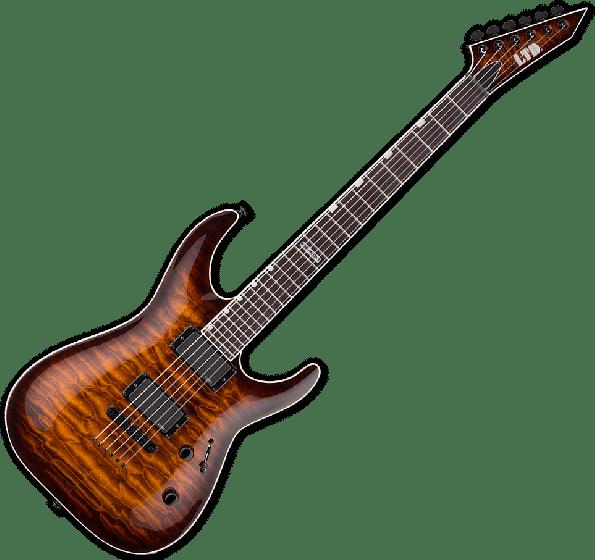 ESP LTD MH-401NT QM Electric Guitar in Dark Brown Sunburst B-Stock